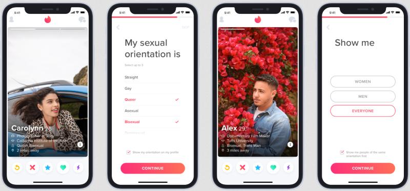 Tinder orientation feature