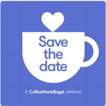 Coffeemeetsbagel save the date podcast icon