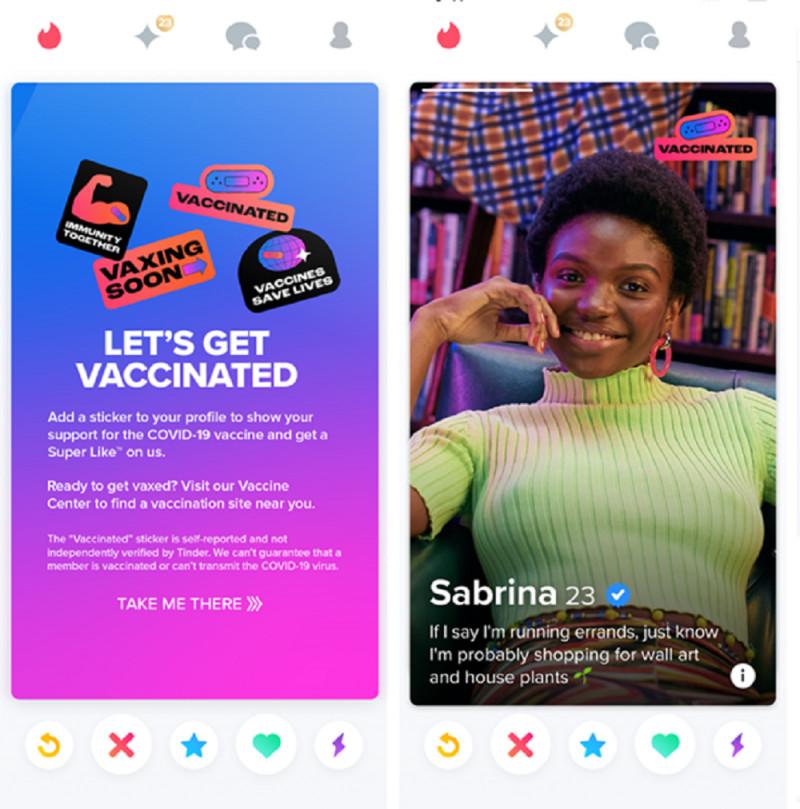 Tinder vaccine campaign